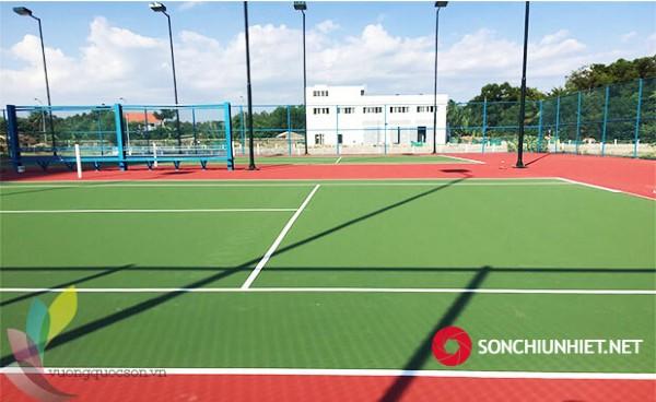 Dự Án Thi Công Sơn Sân Tennis TPHCM
